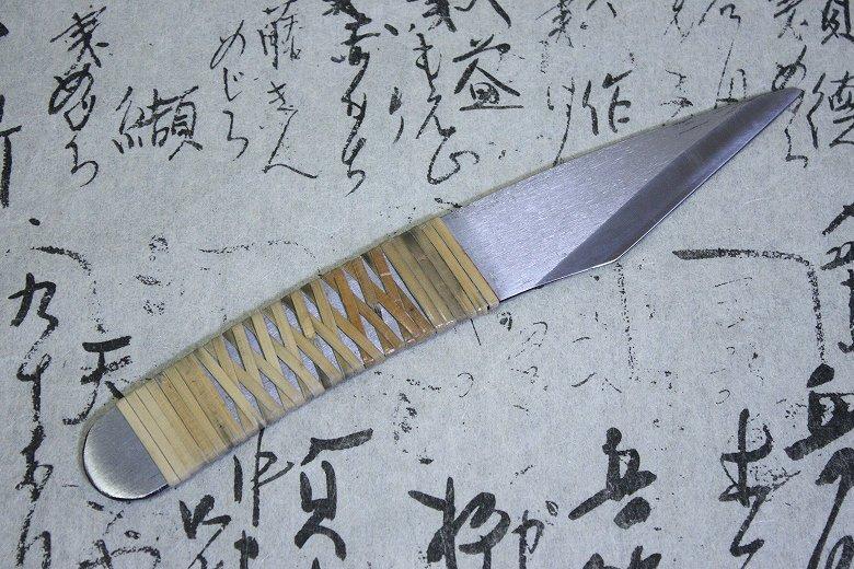 Baishinshi Japanese Craft Knife Tsugiki Kogatana Carved Fujimaki 24mm Kiridashi