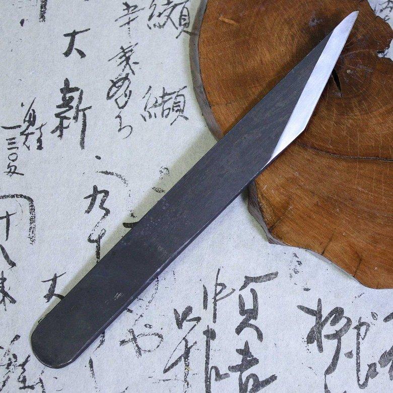 Baishinshi Japanese Craft Knife Kiridashi Kogatana Straight Black 21mm