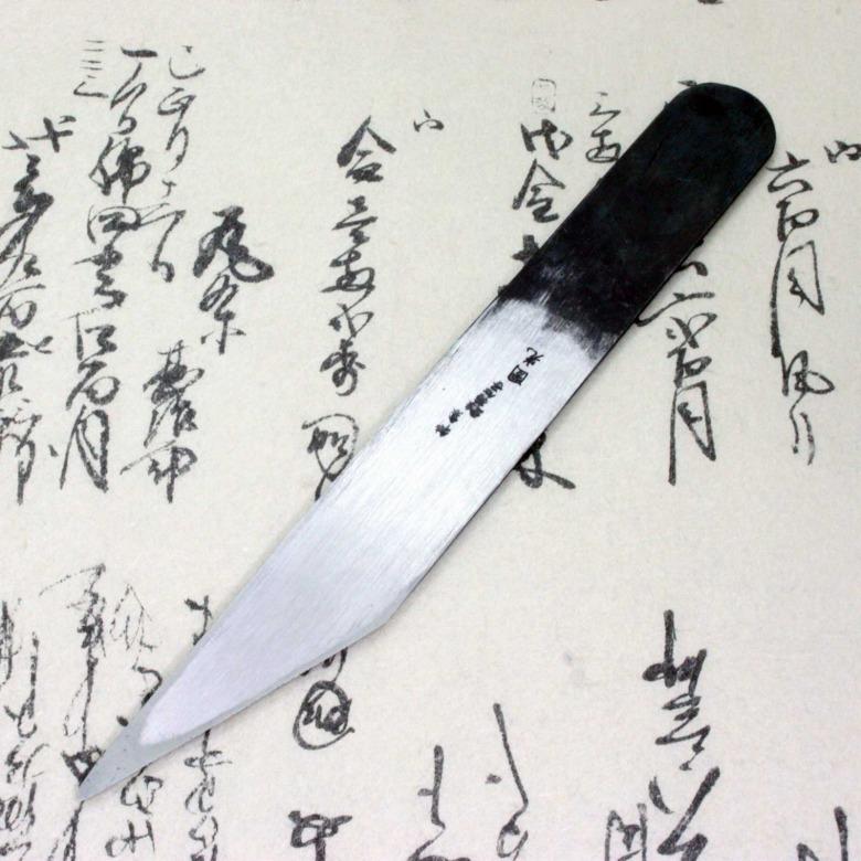 Baishinshi Japanese Craft Knife Kiridashi Kogatana Straight Black 24mm