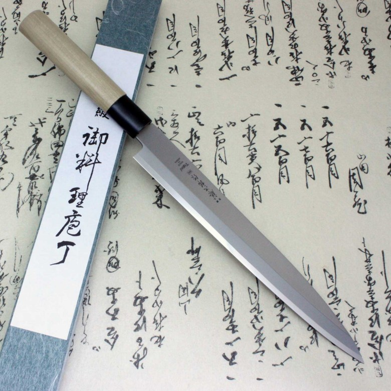 Tojiro Japanese Sushi Chef Knife Molybdenum Vanadium Steel Yanagiba Sahimi Knife