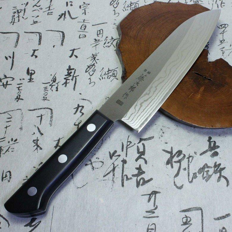 Japanese Tojiro damascus kasumi santoku sushi Knife