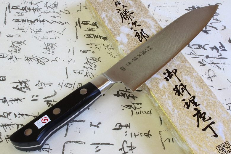 Tojiro Japanese Knife sushi chef dp cobalt alloy steel round guard santoku 170mm