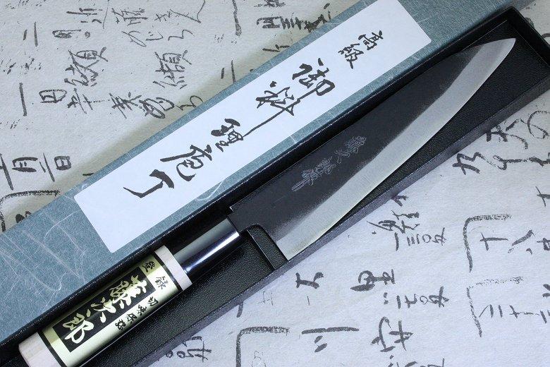 Tojiro Japanese Knife Sushi Chef White Shirogami Steel Black Finished Petty 150