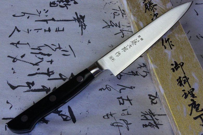 Tojiro Japanese Knife sushi chef dp cobalt alloy steel round guard petty 120mm
