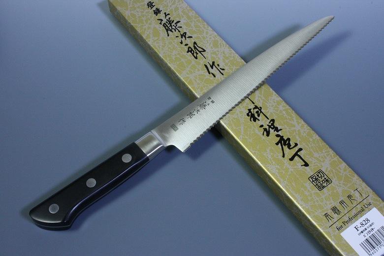 Tojiro Japanese Knife Sushi Chef Bread Slicer VG10 Steel with Bolster Seki