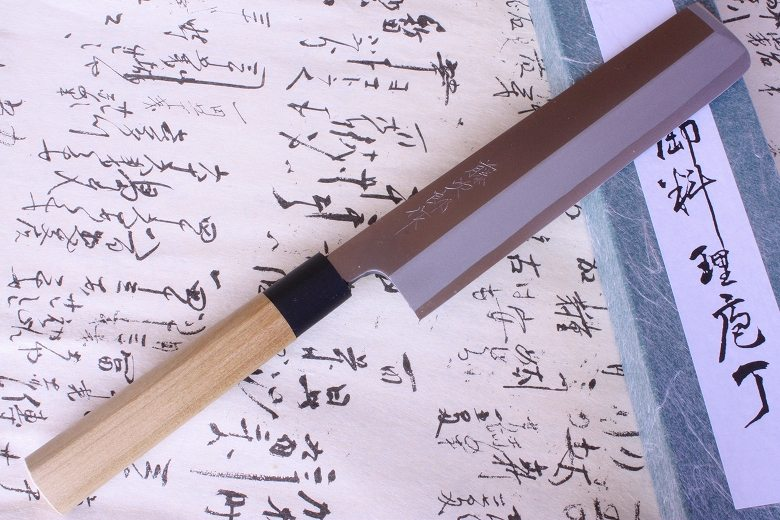 Tojiro Japanese Knife sushi chef shirogami series with pc ring usuba