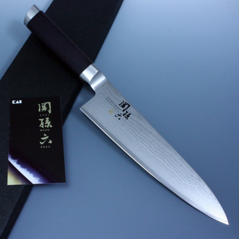 Kai Seki Magoroku Japanese Kitchen Chefs Knife Damascus 33 Layers Gyuto 180mm