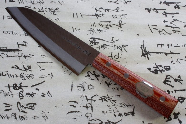 Japanese Chef Knife Kanetsune Hagane Steel Santoku 165mm 1001