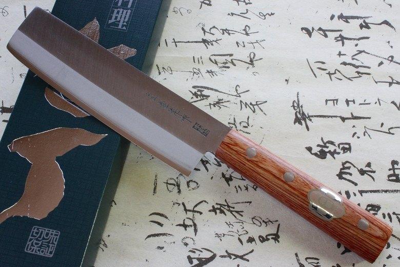 Japanese Sushi Chef Knife Kanetsune Hagane Steel Usuba 165mm 1002