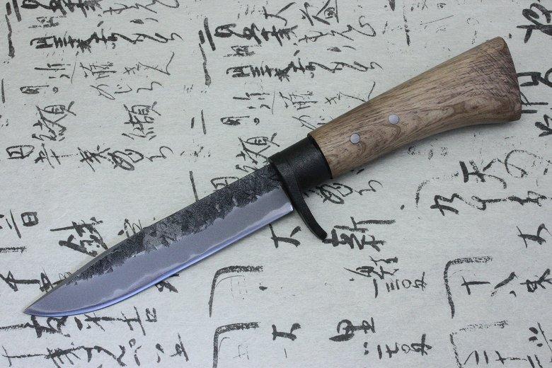 Japanese Traditional Hunting Knife Kanetsune Akatsuki White steel