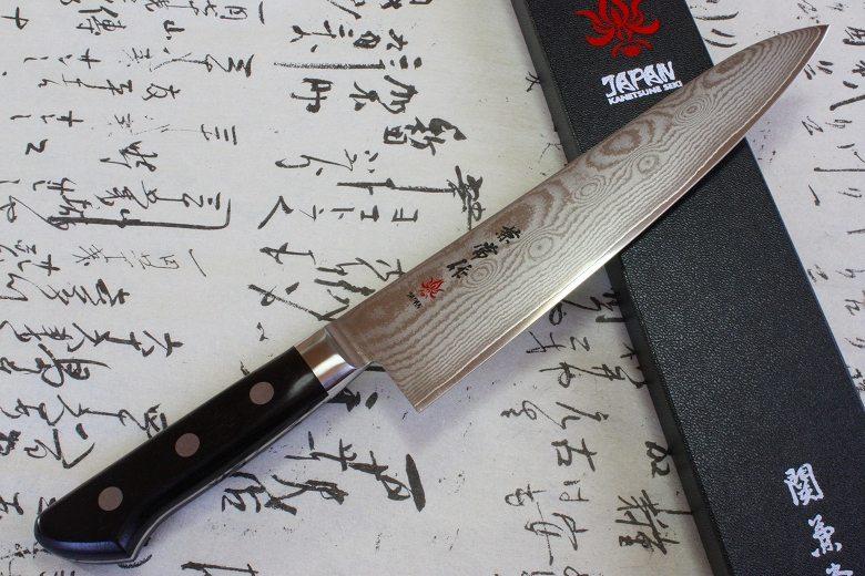 Japanese Chef Knife Kanetsune Damascus VG10 Stainless Steel Gyuto 210mm KC-102