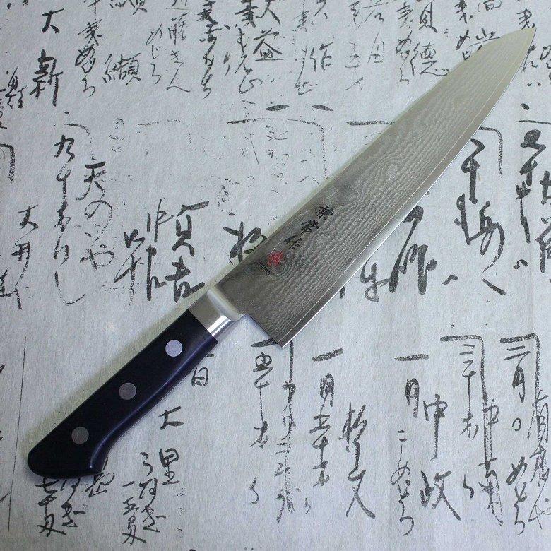 Kanetsune Japanese Chef Knife Nickel Damascus Kasumi VG-10 Stainless Gyuto 210mm