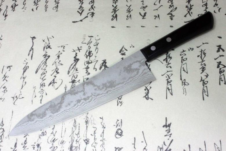 Kanetsune Japanese damascus kasumi gyuto chef Knife 210mm