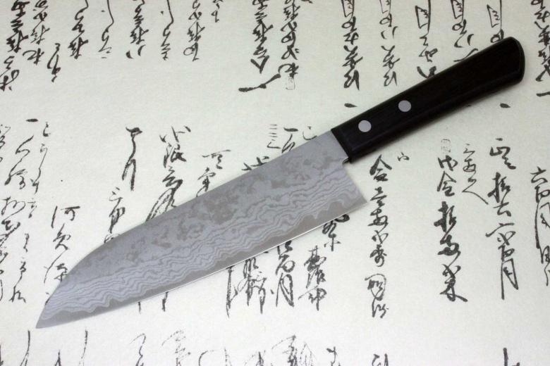 Kanetsune Japanese Kitchen Chef Knife Damascus Kasumi Santoku 180mm KC-302
