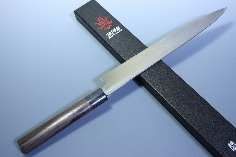 Japanese Chef Knife Kanetsune Damascus White Steel Sushi Sashimi Yanagiba 270mm