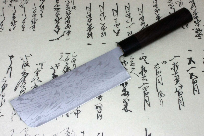 Kanetsune Japanese Sushi Chef Kitchen Knife Damascus Usuba Nakiri 165mm KC-421