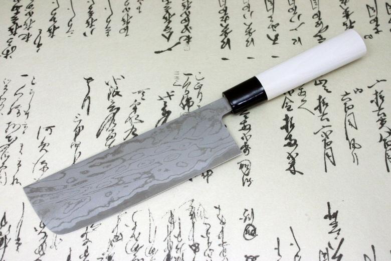 Kanetsune Japanese Sushi Chef Kitchen Knife Damascus Usuba Nakiri 165mm KC-521