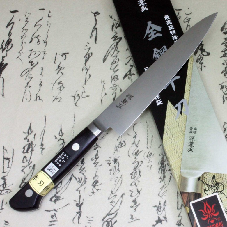 Japanese Kitchen Chef's Knife Minamoto Kanemasa Carbon Steel Petty 150mm Seki