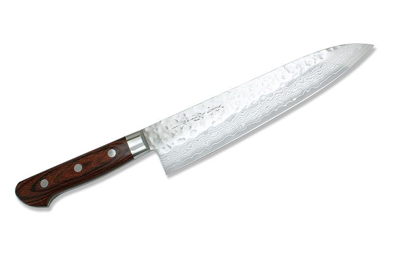 Kanetsune Japanese Chef Knife Damascus Kasumi VG-10 Hammered Finish Gyuto 210mm