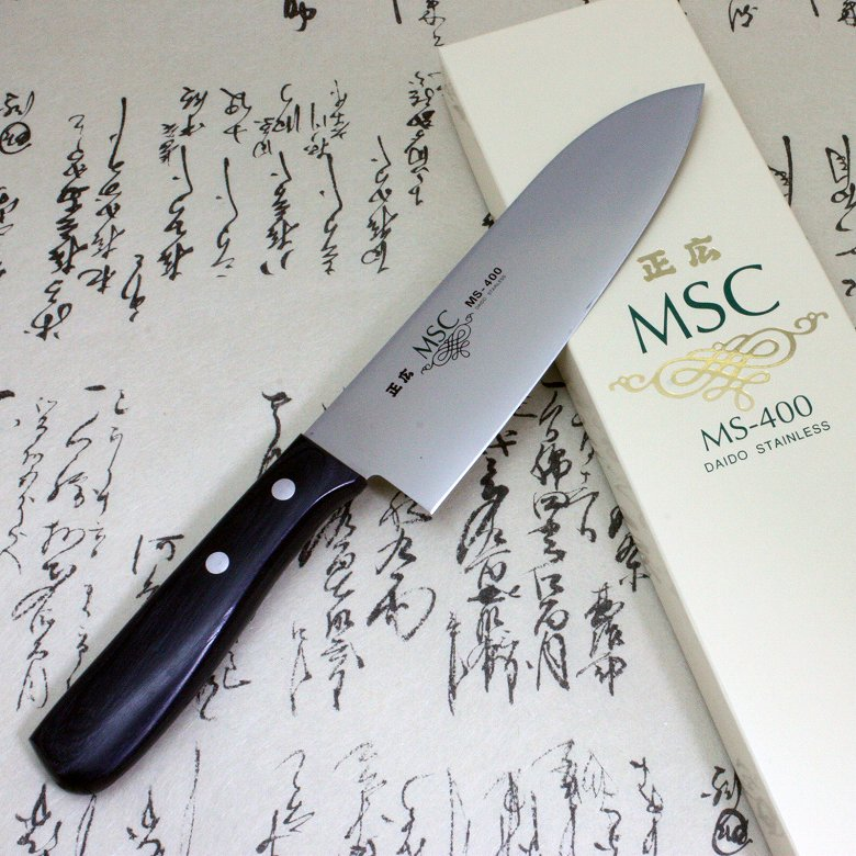 Japanese Masahiro Kitchen Chef Knife Staineless Steel MS-400 Santoku 165mm F/S