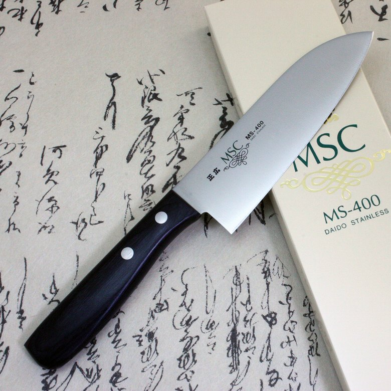 Japanese Masahiro Kitchen Chef Knife Staineless Steel MS-400 Small Santoku F/S