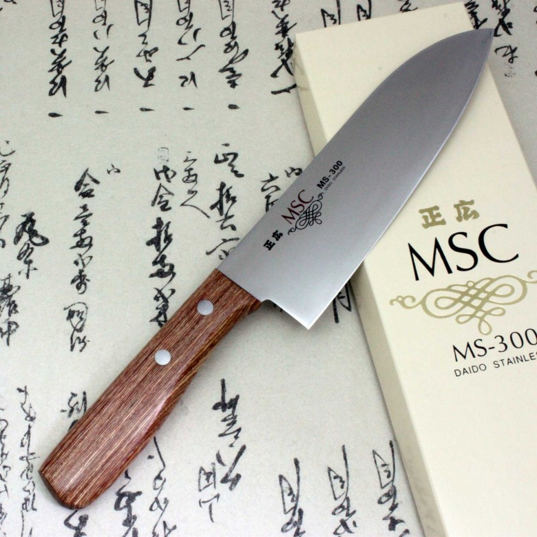 Japanese Masahiro Kitchen Chef Knife Staineless Steel MS-300 Santoku 165mm F/S