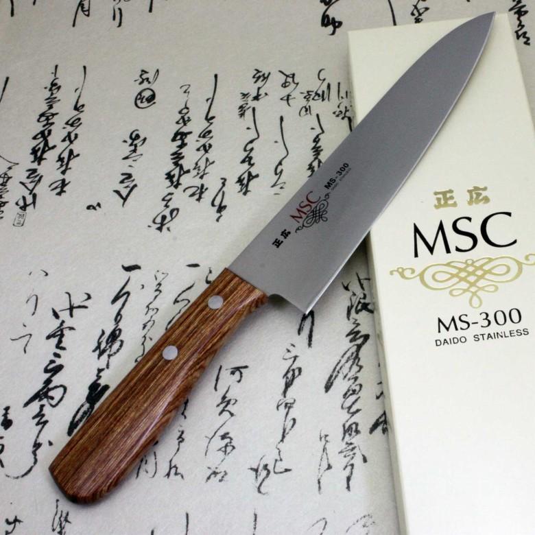 Japanese Masahiro Kitchen Chef Knife Staineless Steel MS-300 Gyuto 180mm F/S