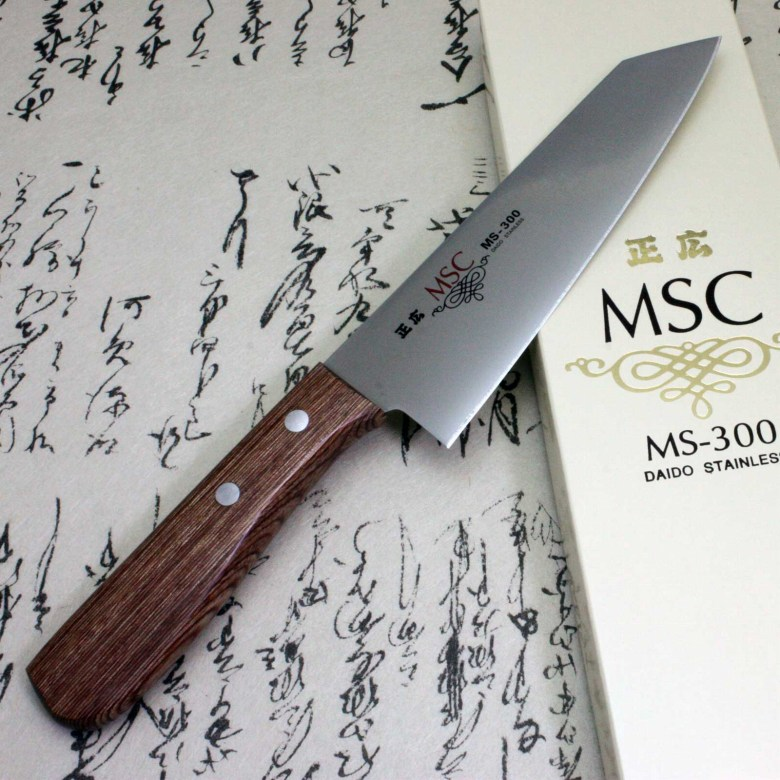 Japanese Masahiro Kitchen Chef Knife Staineless MS-300 Santoku Bunka 160mm F/S