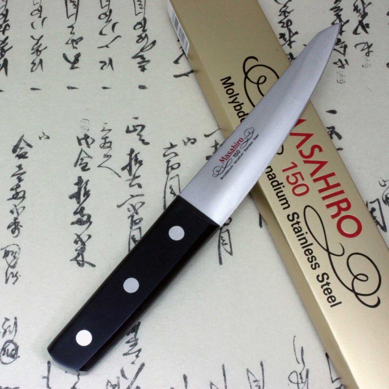 Masahiro Japanese Chef Kitchen Knife Molybdenum Vanadium Boning Maru F/S