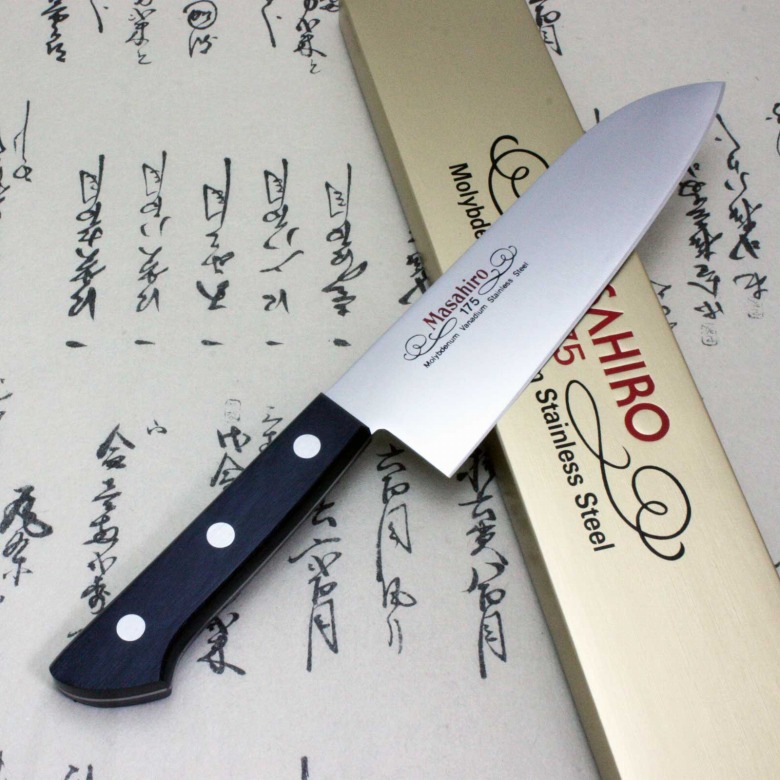 Masahiro Japanese Chef Kitchen Knife Molybdenum Vanadium Stainless Santoku F/S