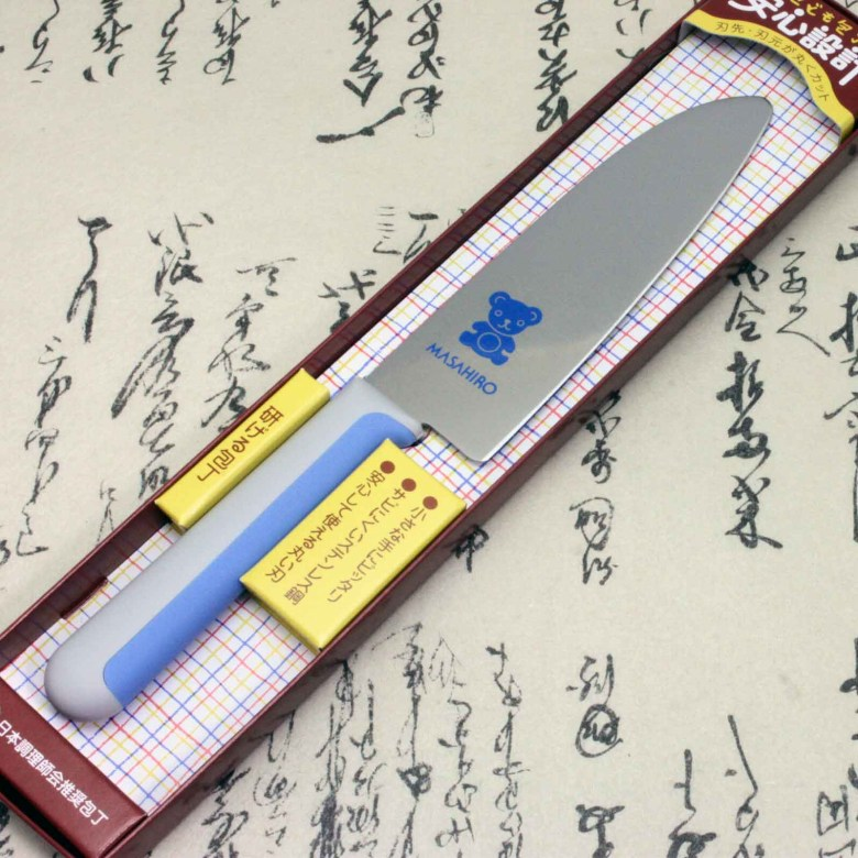 Japanese Masahiro Safe Kitchen Knife for Kids Children Staineless Steel Bear