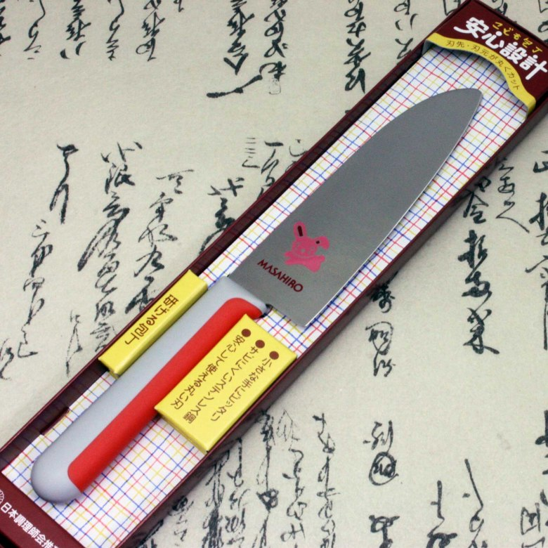 Japanese Masahiro Safe Kitchen Knife for Kids Children Staineless Steel Rabbit