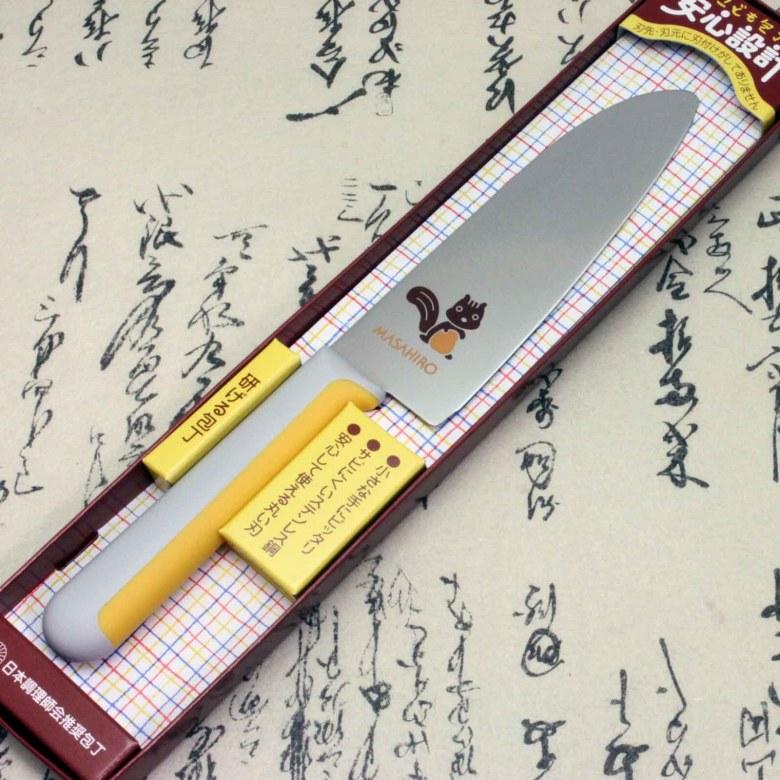 Japanese Masahiro Safe Kitchen Knife for Kids Children Staineless Steel Squirrel