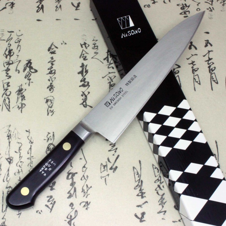 misono japanese chef kitchen knife sweden carbon steel