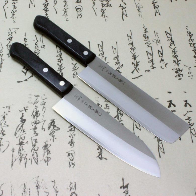 Tojiro Japanese Kitchen Chef Knife Set DP A-1 Series VG10 Usuba/Nakiri & Santoku