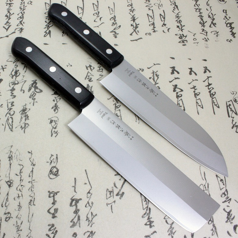 Tojiro Japanese Sushi Chef Knife Usuba Santoku Set DP 3Layered by VG10 steel