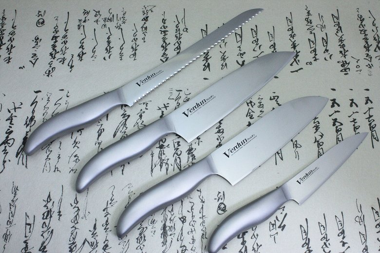 Japanese Kitchen Chef Knife Set Stainless 4 pcs Verdun OVD-100 Made in Japan
