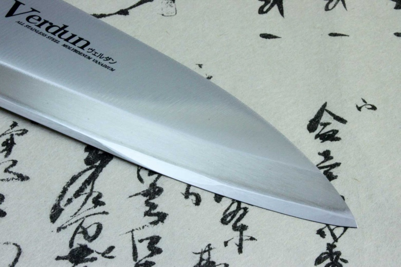 Japanese Sushi Sashimi Kitchen Knife Shimomura Verdun Deba Stainless Steel 150mm