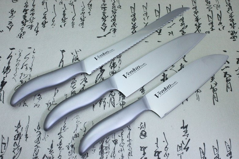 Japanese Kitchen Chef Knife Set Stainless 3 pcs Verdun OVD-70 Made in Japan