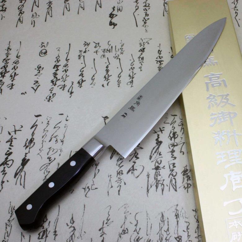 Japanese Sushi Chef Kitchen Knife Shimomura Tsunouma 9000 Stainless Gyuto 240mm