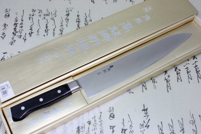 Japanese Sushi Chef Kitchen Knife Shimomura Tsunouma 9000 Stainless Gyuto 270mm