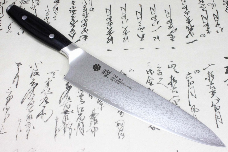 Japanese Yaxell YO-U 69 layers VG-10 Damascus Kitchen Chef's Knife Gyuto 210mm
