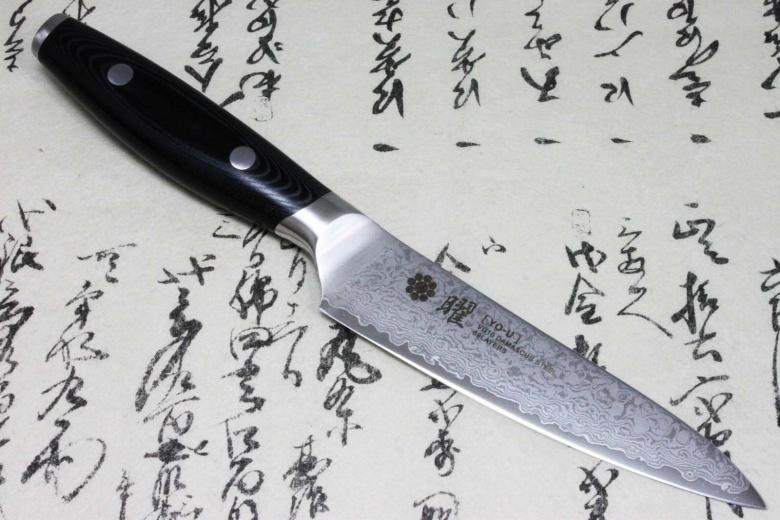 Japanese Yaxell YO-U 69 layers VG-10 Damascus Kitchen Knife Petty 120mm